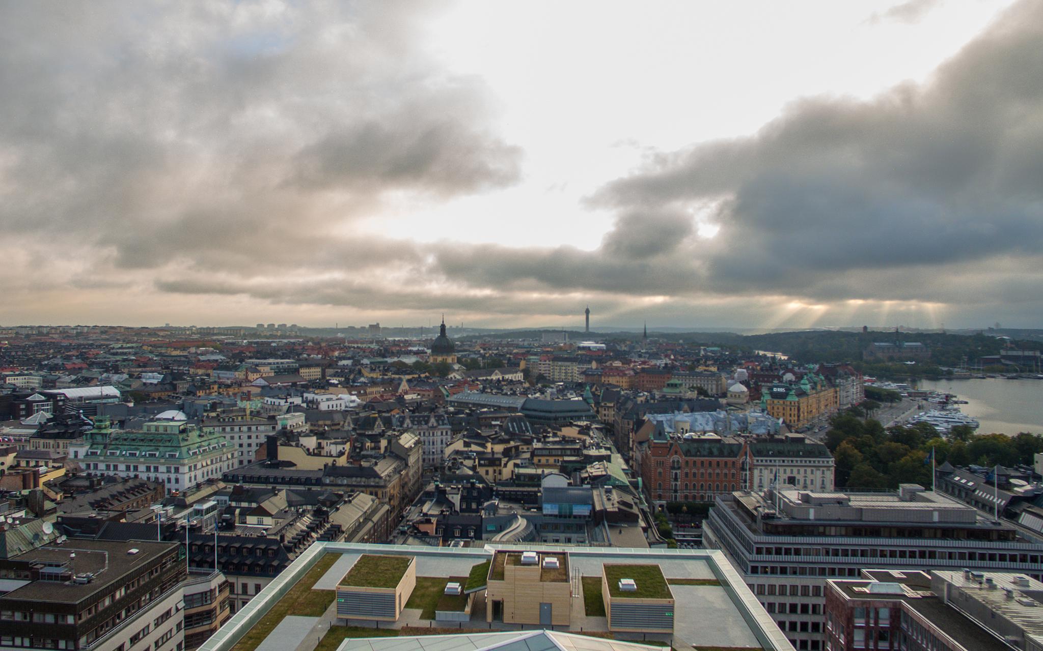 Utsikt över Stockholm city